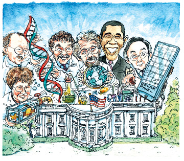 Obama geeks (från the Economist)